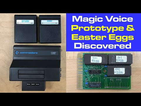 Commodore Magic Voice Software Prototype and Easter Eggs