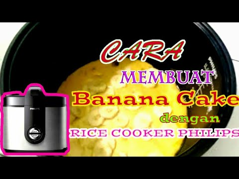 Cara Membuat Kue Pisang Dengan Rice Cooker  | Magic Com Philips HD 3128| | Life Hack