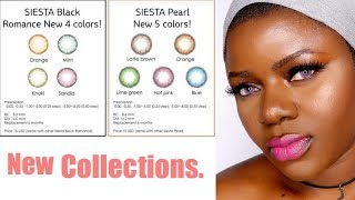 New Colorcl.com Contact Lenses: Siesta Pearl & Siesta Black Edtion.