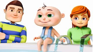 Five Little Babies Bathing In A Tub | Learn Good Habits For Kids | Five Little Babies Collection