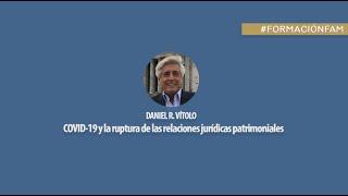 COVID-19 y la ruptura de las relaciones jurídicas patrimoniales. Daniel R. Vitolo.