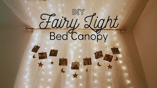 Law School Vlog | Getting Crafty In Quarantine - Pinterest Worthy DIY Bed Canopy With Fairy Lights