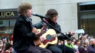 Justin Bieber Exclusive Look On The Today Show 2009