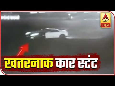 Car Spotted Performing Stunt At Delhi's Vijay Chowk | ABP News