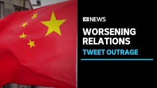 China refuses to apologise for graphic image used to attack Australia   ABC News