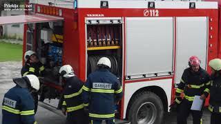 Velika gasilska vaja v industrijski coni v Žihlavi