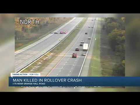 Man killed in rollover crash on I-75