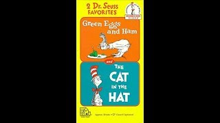 Opening And Closing To 2 Dr. Suess Favorites-Green Eggs And Ham And The Cat In The Hat 1994 VHS