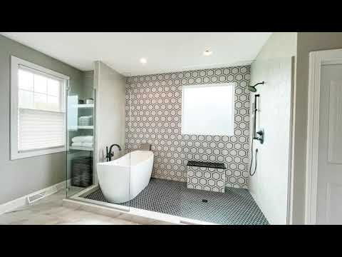 Fairview Bathroom Tour Custom Tile Shower  with Soaker Tub Installed by DBC Remodeling