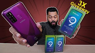 Infinix Hot 9 Pro & Hot 9 Unboxing And First Impressions⚡⚡⚡Hole Punch, 48MP Camera (3x GIVEAWAY)