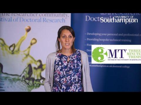 Kate Morton, Three Minute Thesis | University of Southampton
