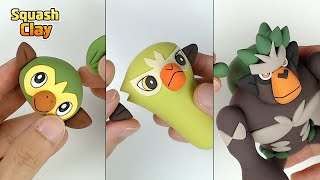 Pokémon Clay Art: Grookey line!! Grass type Pokémon [satisfying video]