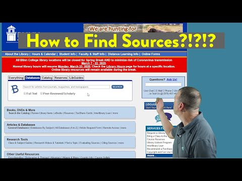 How to Find Sources for a Research Paper