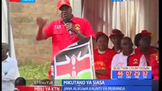 President Uhuru Kenyatta's full speech in Nyeri during Jubilee campaigns
