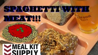MRE REVIEW: SPAGHETTI WITH MEAT AND SAUCE - MEAL KIT SUPPLY - HD 1080P