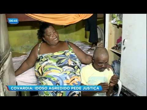 Idoso agredido por lutador pede justiça