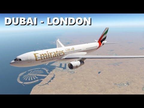 ✈️ [X-Plane 11] DUBAI (OMDB) - LONDON (EGLL) | EMIRATES A330 FULL FLIGHT