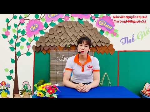 Hoạt động Vắt nước cam giáo viên Nguyễn Thị Huế
