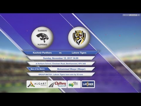 Video Kashmir Panthers VS Lahore Tigers - 12-Nov-2017