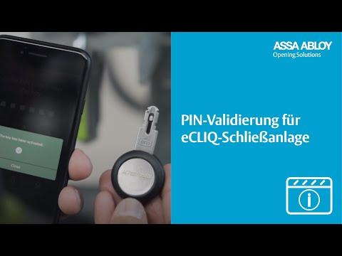 PIN-Validierung für eCLIQ-Schließanlage