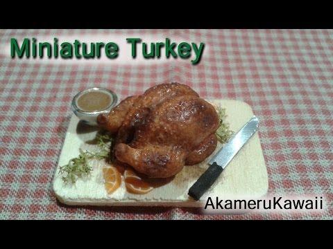 Miniature Turkey tutorial - Dollhouse polymer clay food