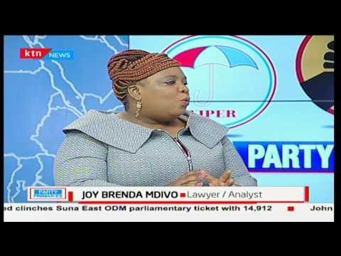 Advocate Joy Brenda Masinde speaking of what the law dictates of the party primaries