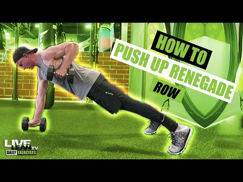 Pushup Renegade Row with Dumbbell