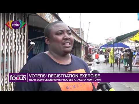 Voters' registration exercise: Near scuffle disrupts process at Accra New Town