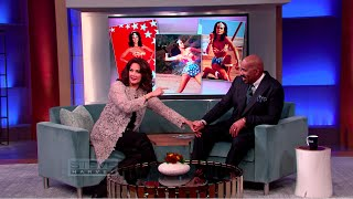 Lynda Carter teaches Steve the Wonder Woman Spin || STEVE HARVEY