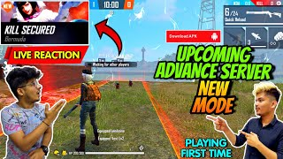 FREE FIRE || PLAYING NEW MODE KILL SECURED IN ADVANCE SERVER || LIVE REACTION- TWOSIDE GAMERS