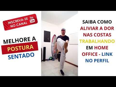 Como Aliviar Dor nas Costas em Home Office I v1 #shorts
