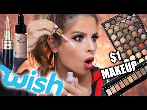 $1 MAKEUP FROM WISH TESTED | HIT OR MISS??