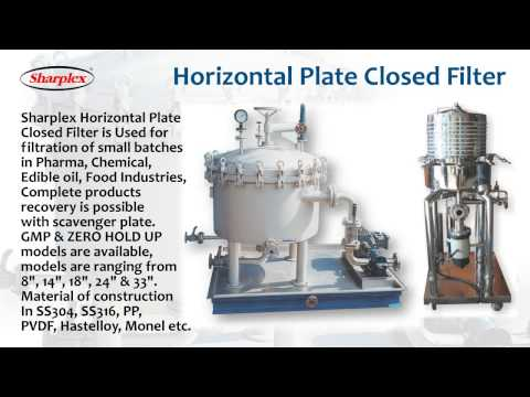 Horizontal Plate Closed Filter