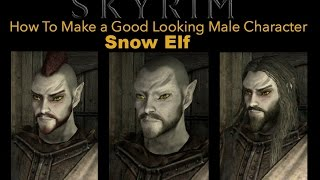 Skyrim Special Edition - How To Make a Good Looking Character - Snow Elf Male
