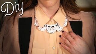 DIY Lace Bib Necklace | Designer DIY