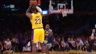 LeBron James First Lakers Game In Staples Center