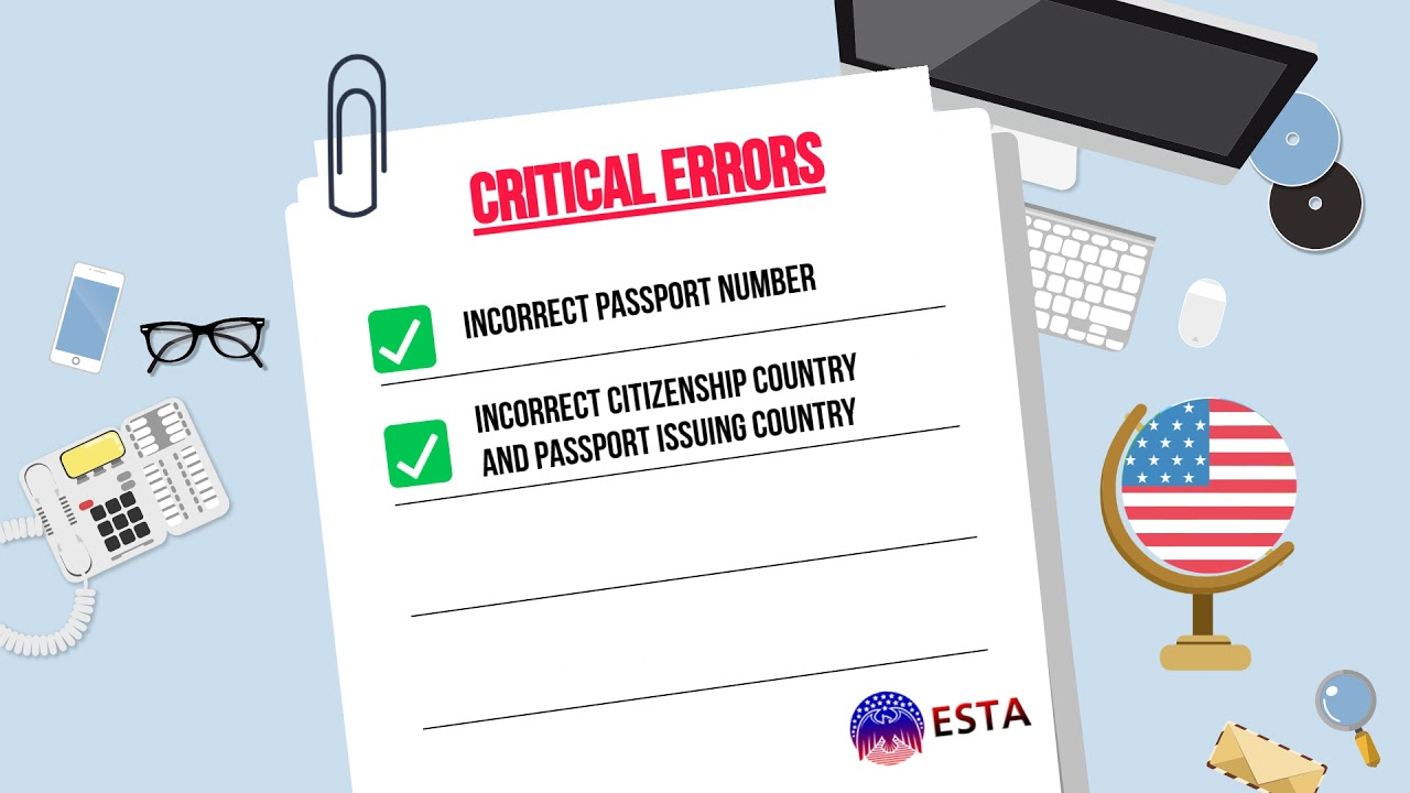 Minimize common ESTA application errors