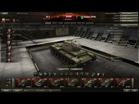 World of Tanks KV 3 Tank Review and gameplay