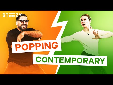 Popping vs. Contemporary Dancer – Dancers Learn Each Other's Styles! | STEEZY.CO