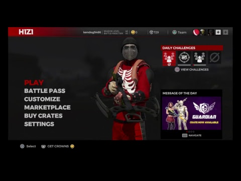 H1Z1 Ps4 Gameplay Live Battle Pass season 1 squad up