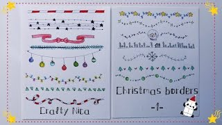 BORDERS AND FRAMES DESIGNS. Borders For Christmas Cards & School Projects * Decoration Ideas (1)