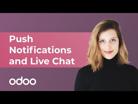 Push Notifications and Live Chat | odoo Marketing