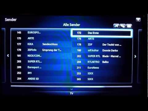 Sendersuche und Sortierung bei Samsung