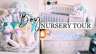 BABY BOY NURSERY TOUR! | SHARED ROOMS! Small Aparment
