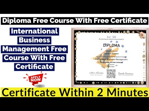 Diploma Free Course With Free Certificate | International Business ...
