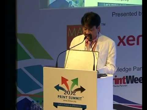 Print Summit 2012 : Talk By Hitesh Jobalia of Max Flex at BMPA Print Summit 2012