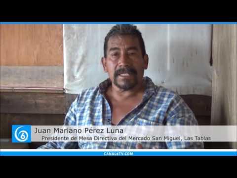 Locatarios del mercado San Miguel Las Tablas en Valle de Chalco piden apoyo al gobierno local