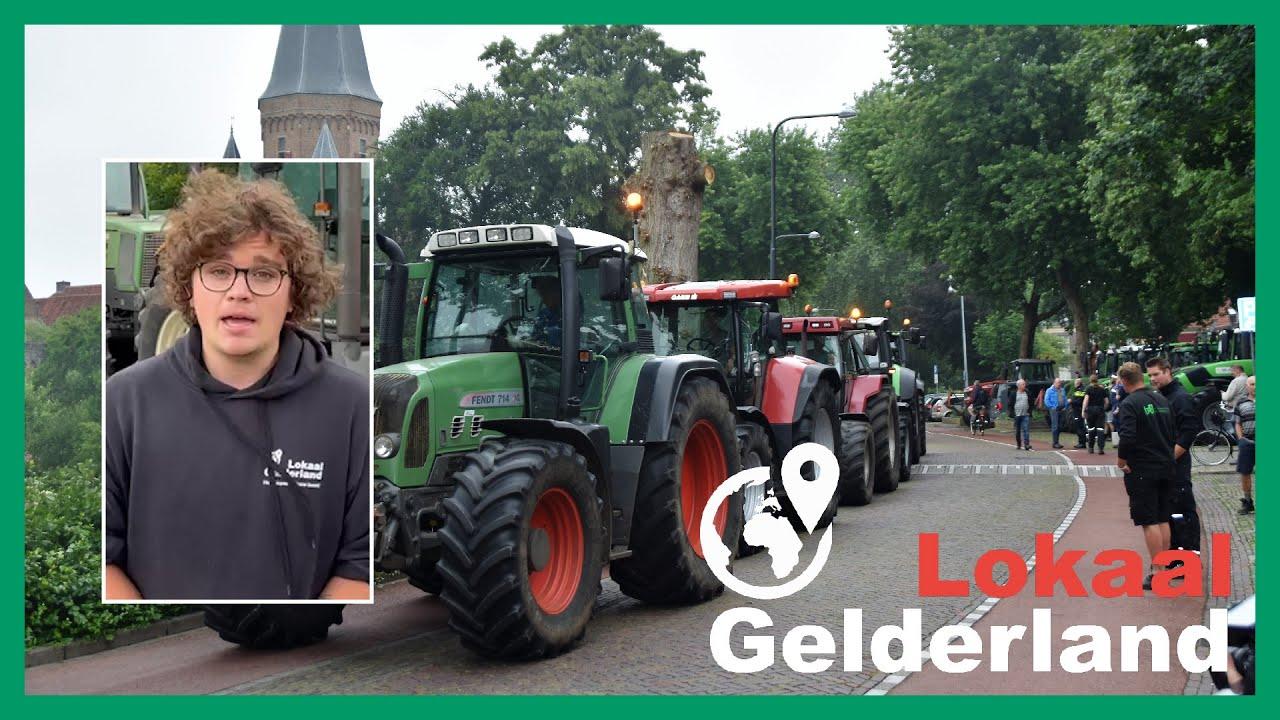 Boeren voeren actie in Zutphen