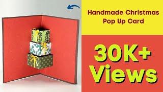 DIY 3D Christmas Card - Handmade Christmas Pop Up Card