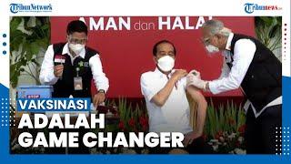 Jokowi Sebut Vaksinasi Adalah Game Changer, Diharapkan Perekonomian Segera Bangkit